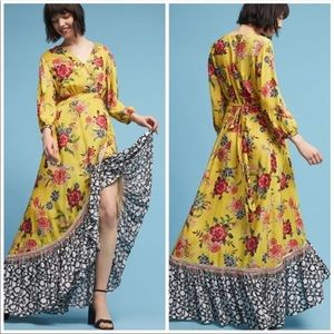 Farm Rio Sunlit Floral Maxi Dress Anthropologie